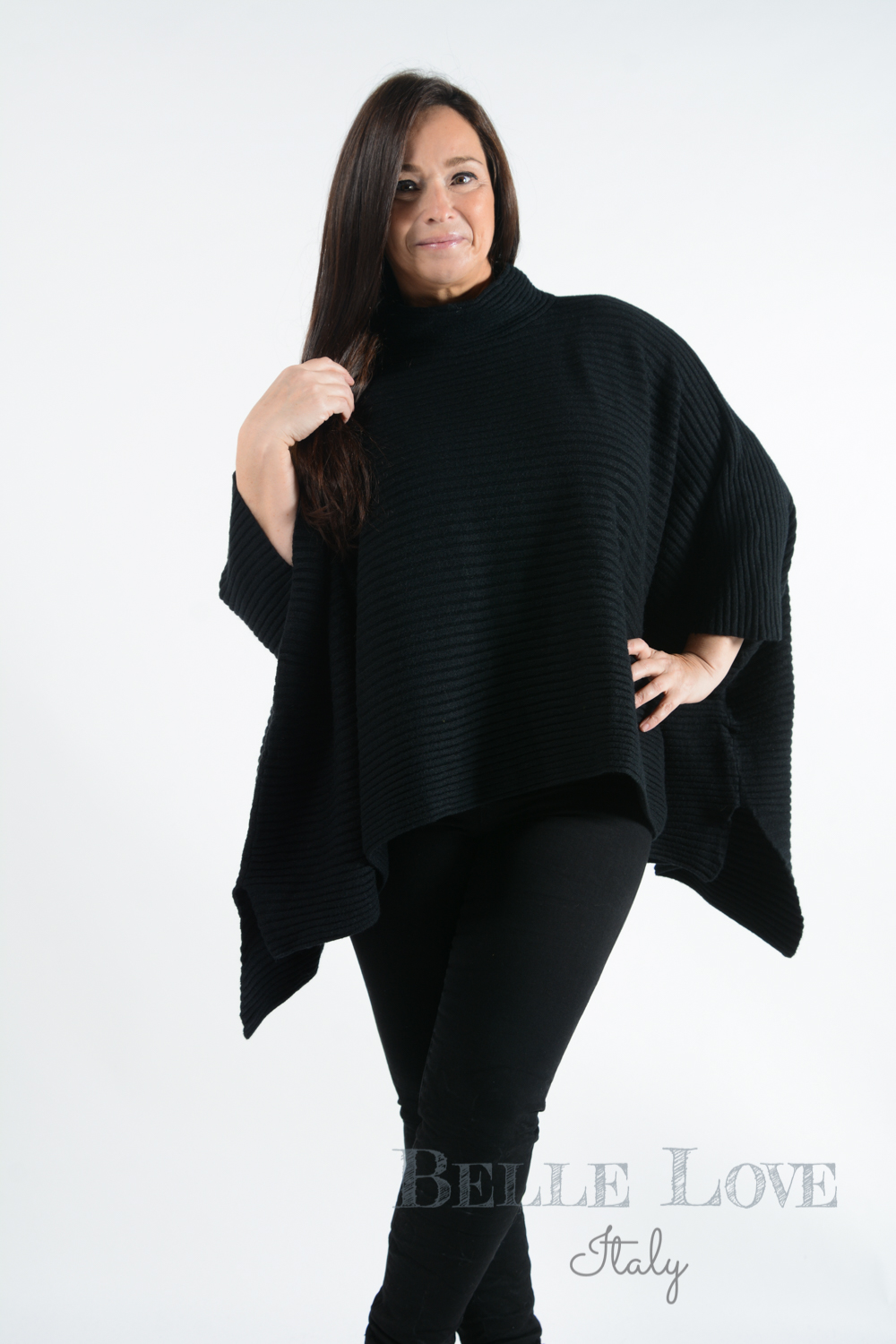 Belle Love Italy Ashford Ribbed Poncho