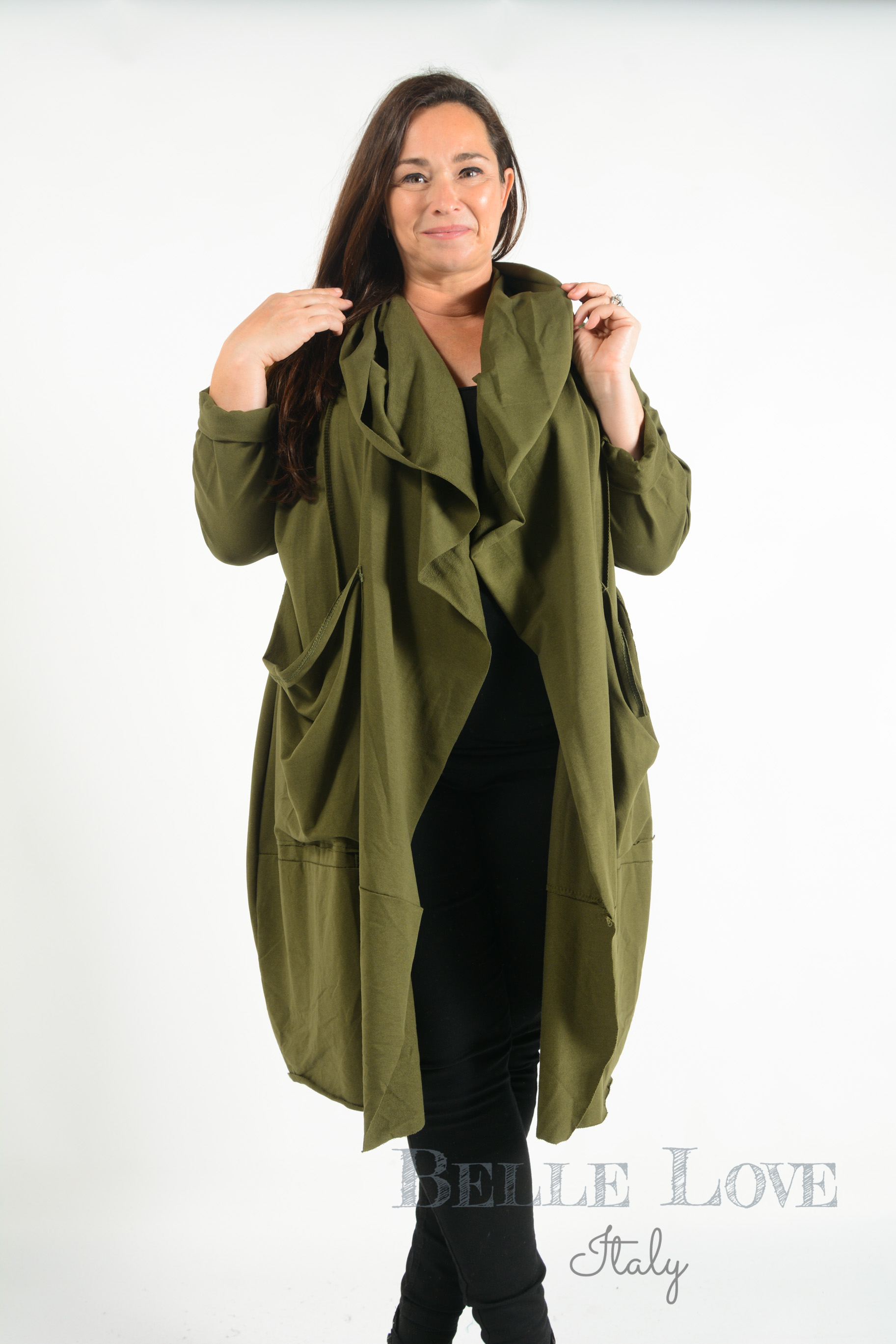 Belle Love Italy Evie Twist Lightweight Coat