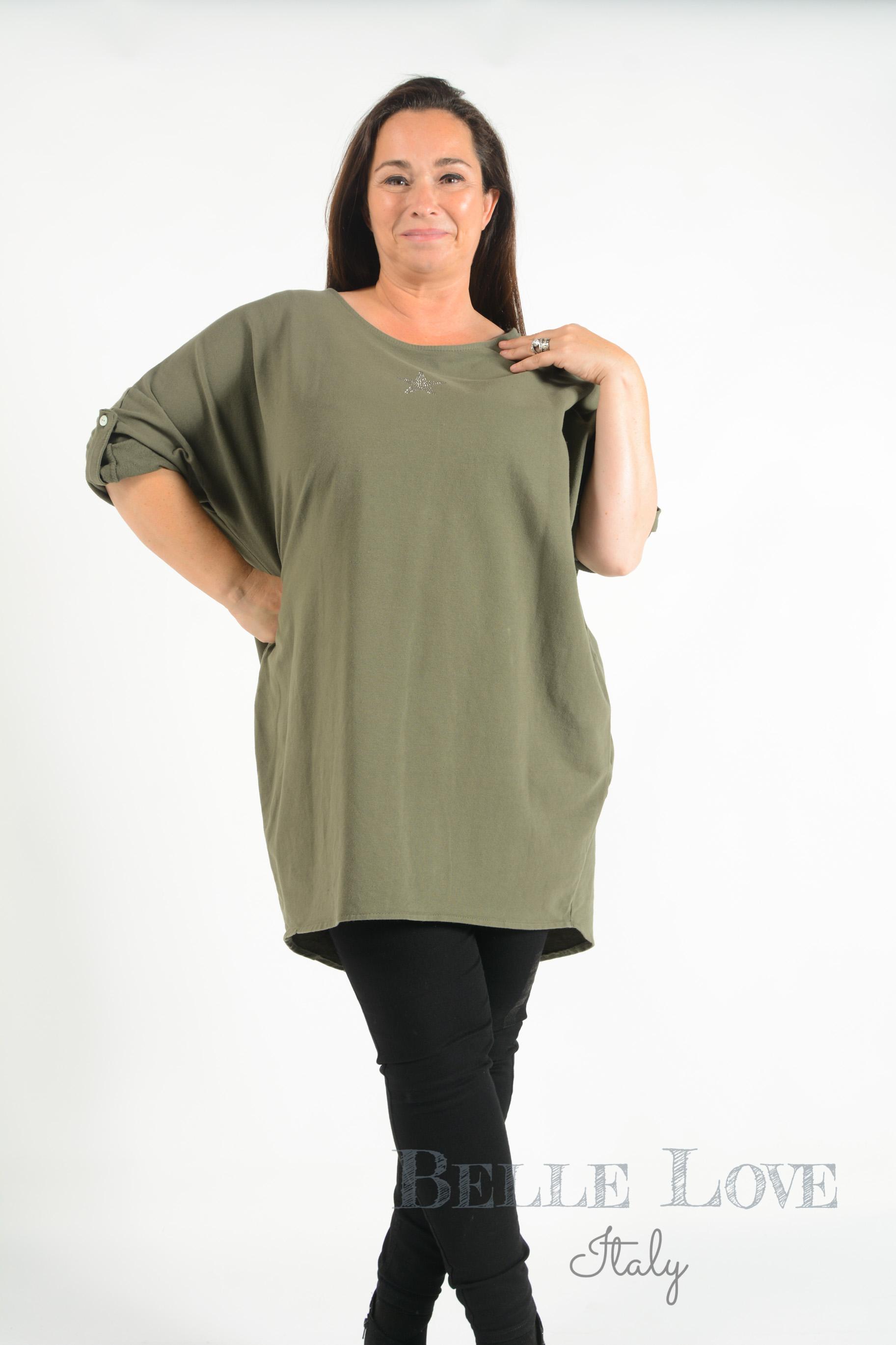 Belle Love Italy Lottie Star Button Back Sweatshirt