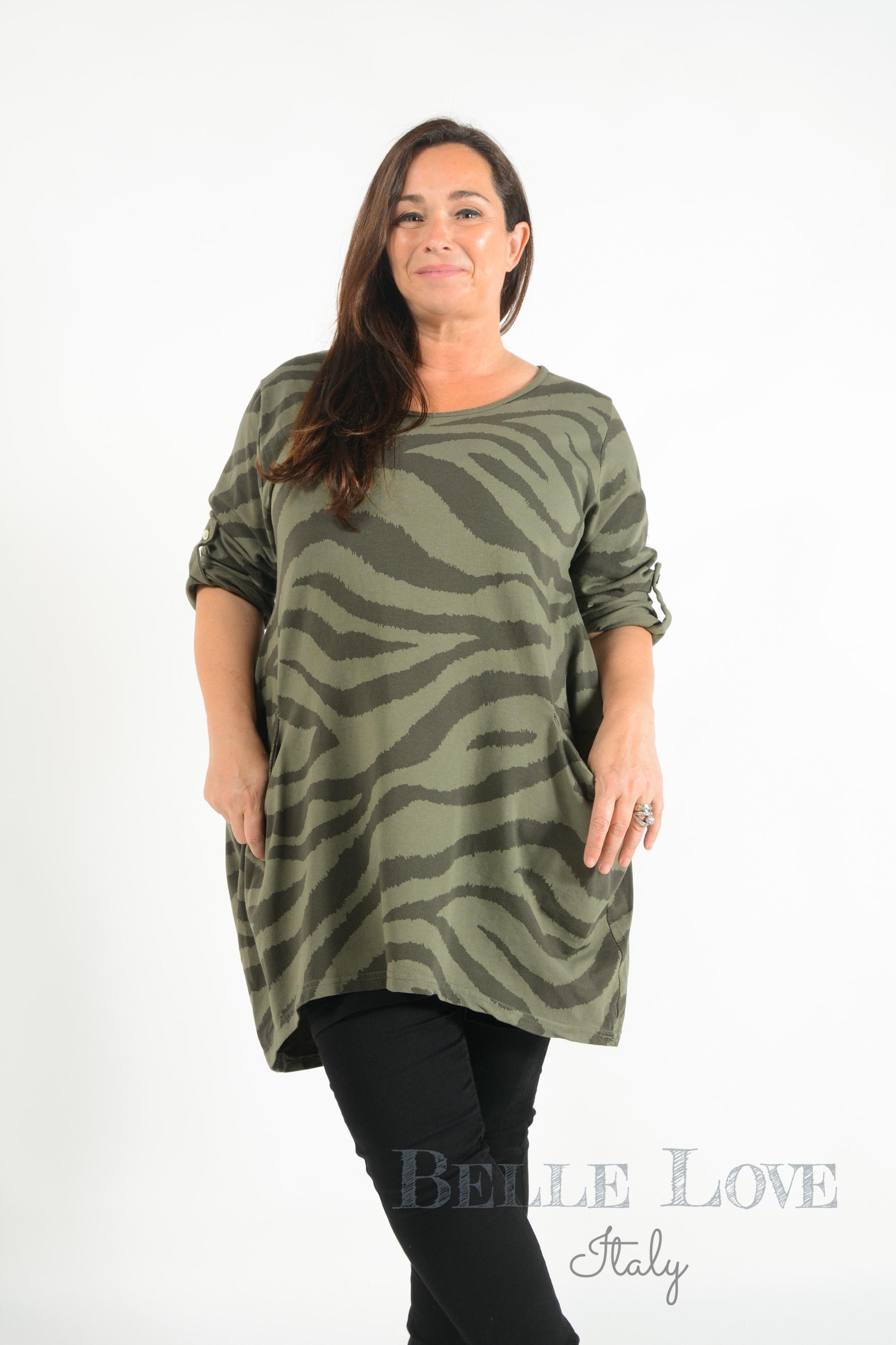Belle Love Italy Molly Zebra Print Tunic