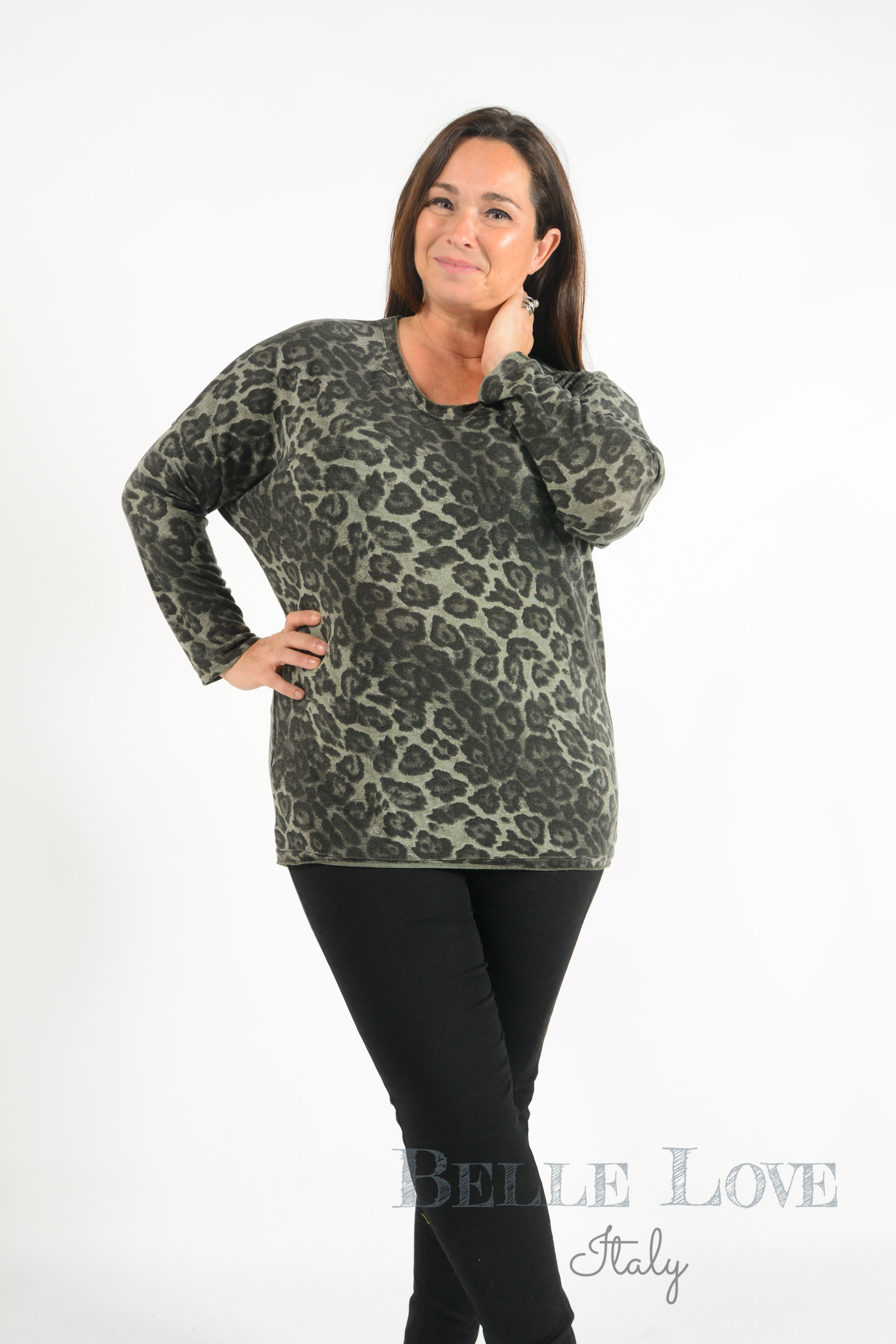 Belle Love Italy Isabella Leopard Print Top