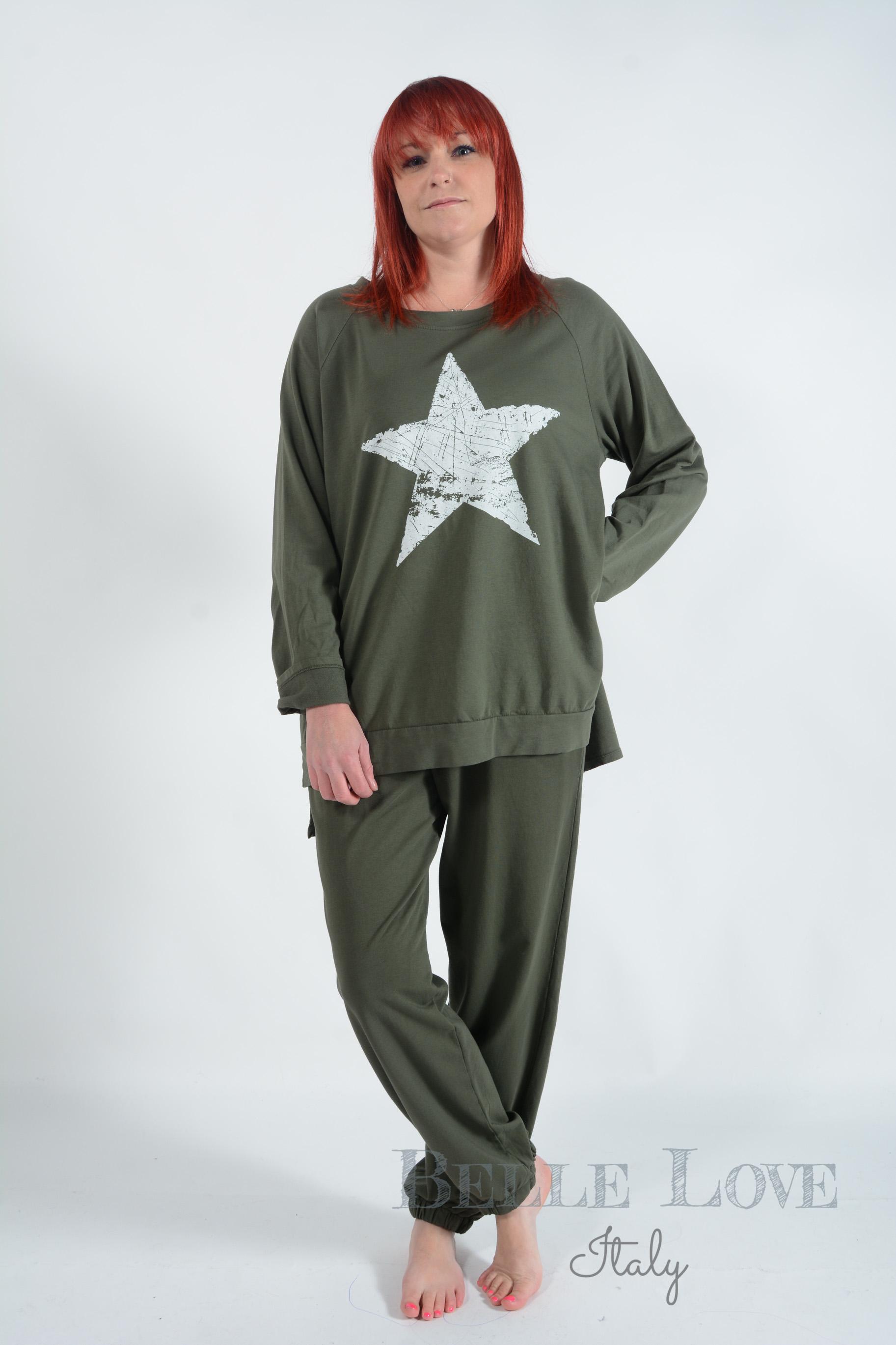 Belle Love Italy Katie Star Women's Loungewear Set