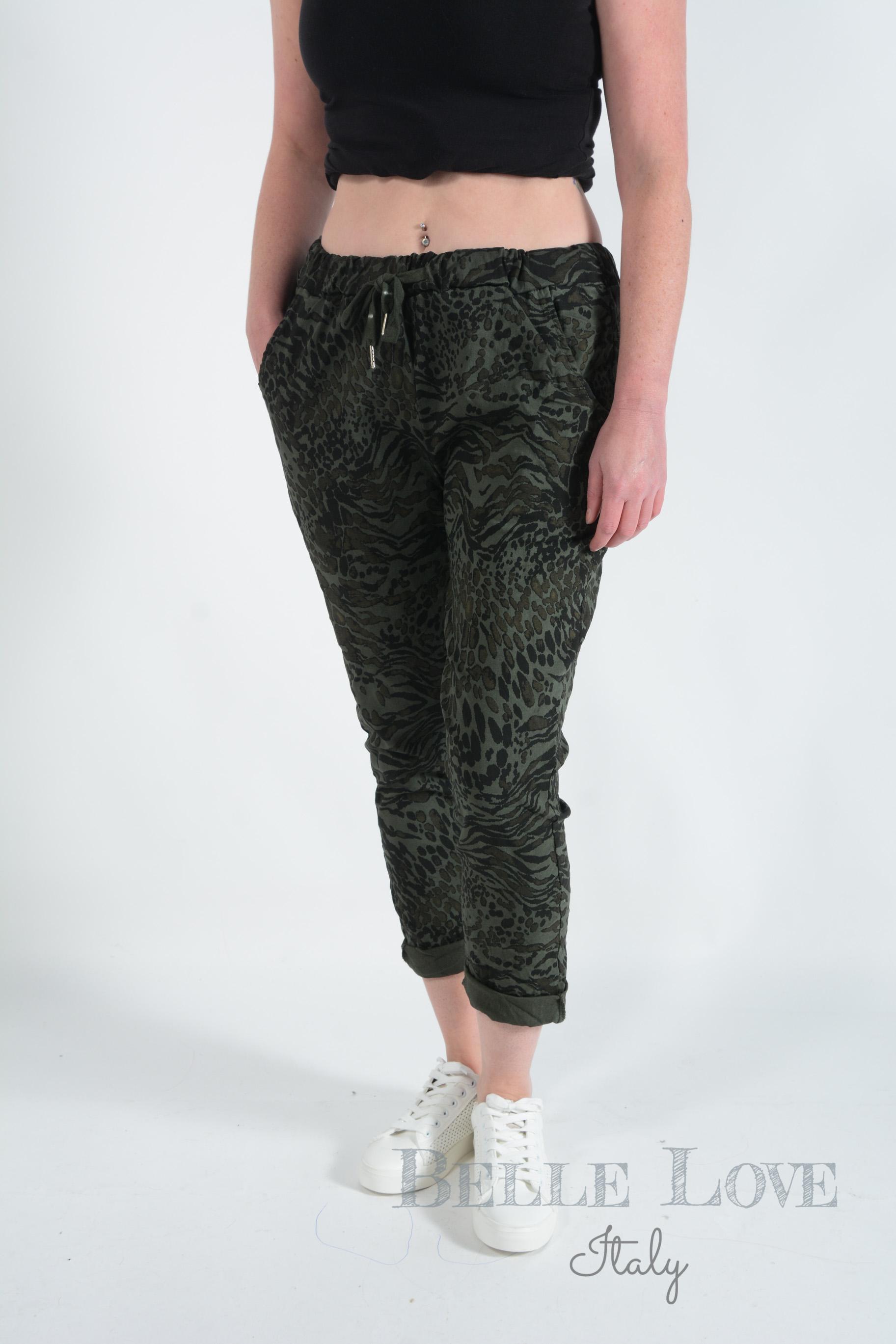 Belle Love Italy Joelle Leopard Zebra Print Magic Women's Lounge Pants