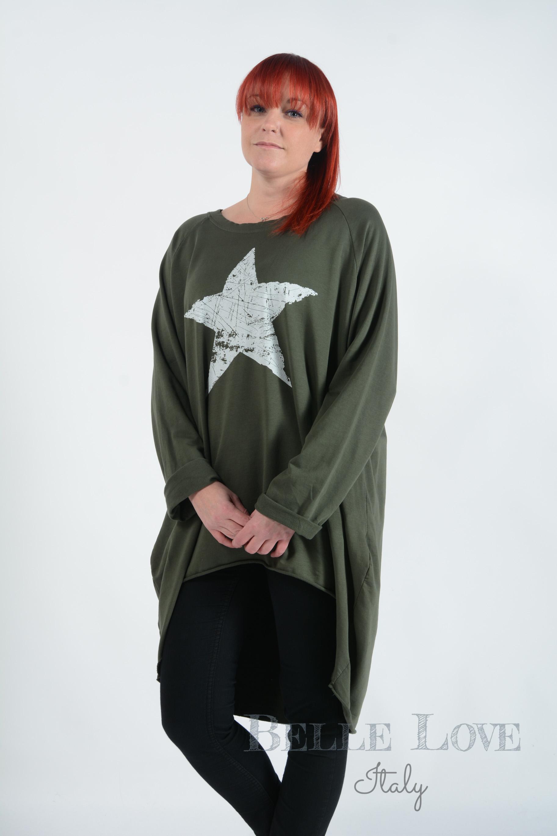 Belle Love Italy Katie Star Sweatshirt for Women