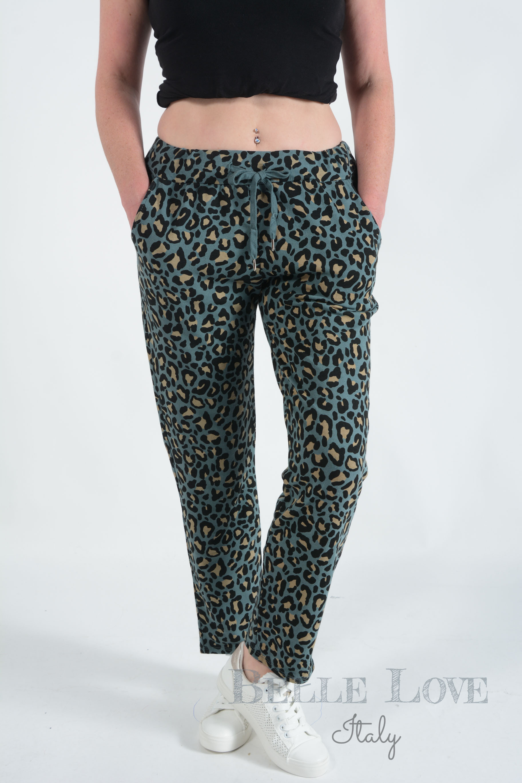 Belle Love Italy Ella Animal Print Lounge Joggers