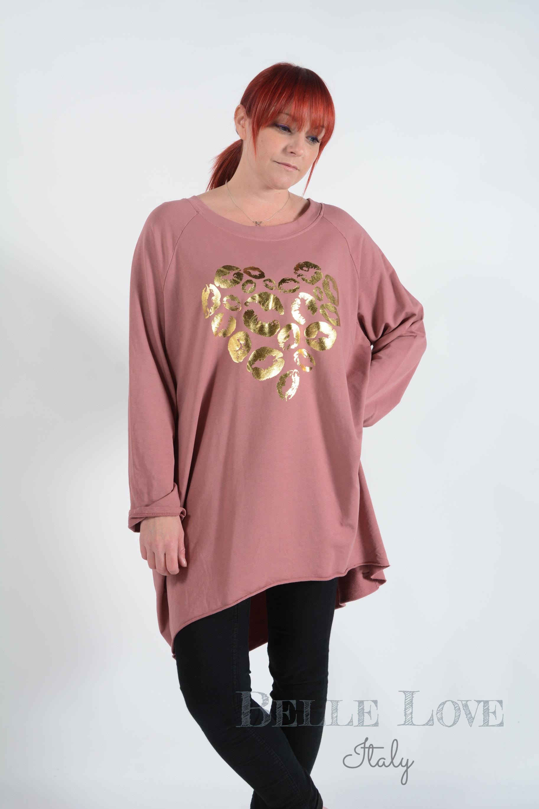 Belle Love Italy Kitty Kiss Love Heart Women's Sweatshirt
