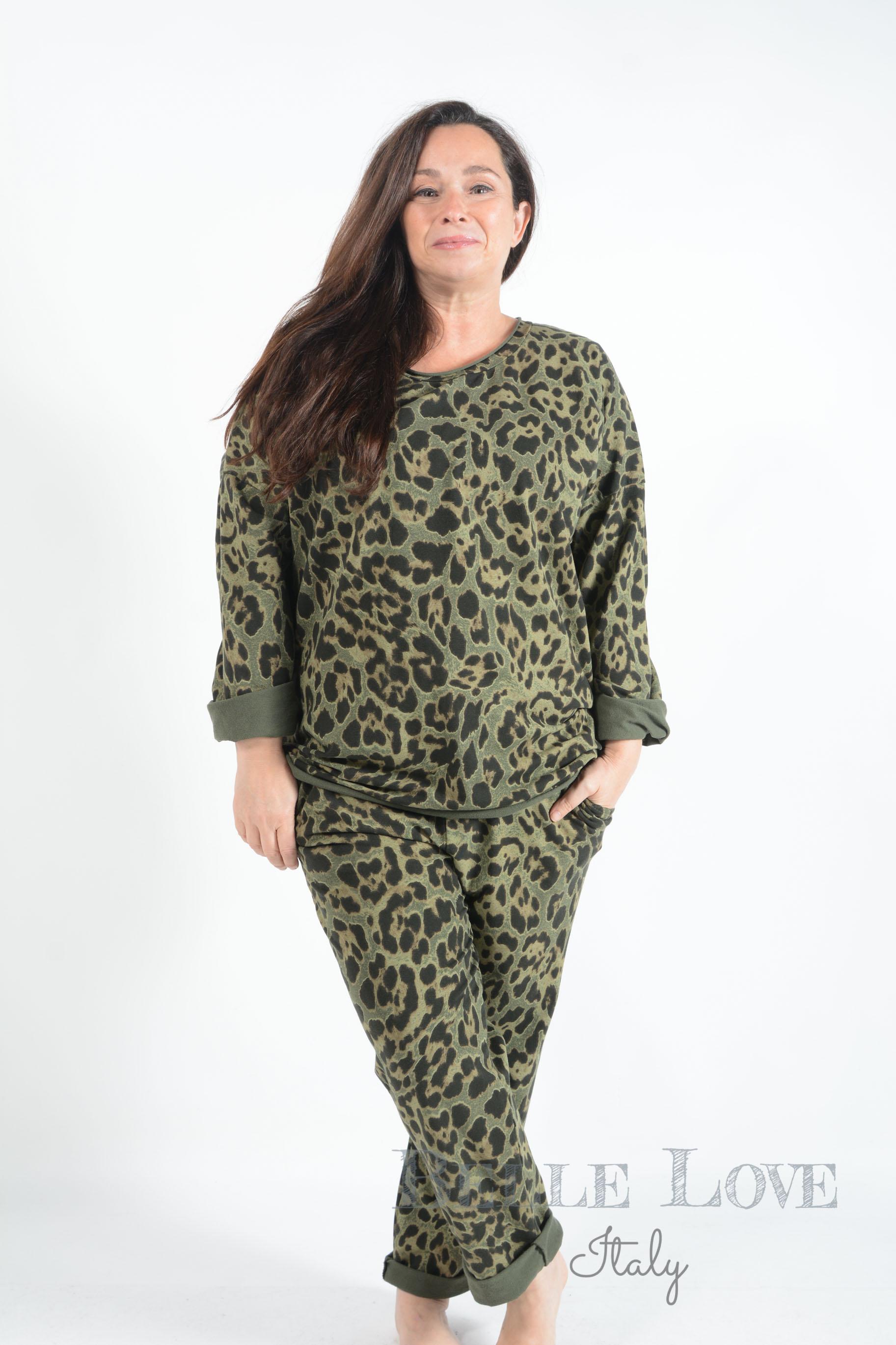 Belle Love Italy Animal Print Loungewear Set