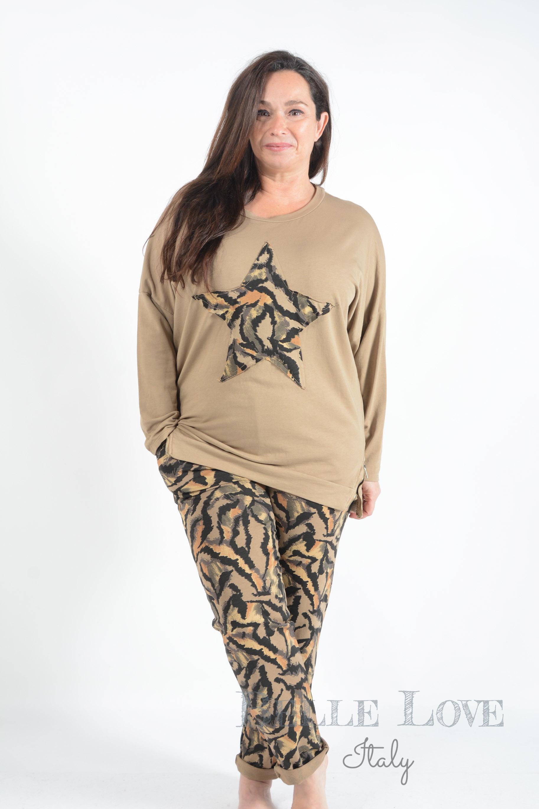 Belle Love Italy Tiger Star Loungewear Set