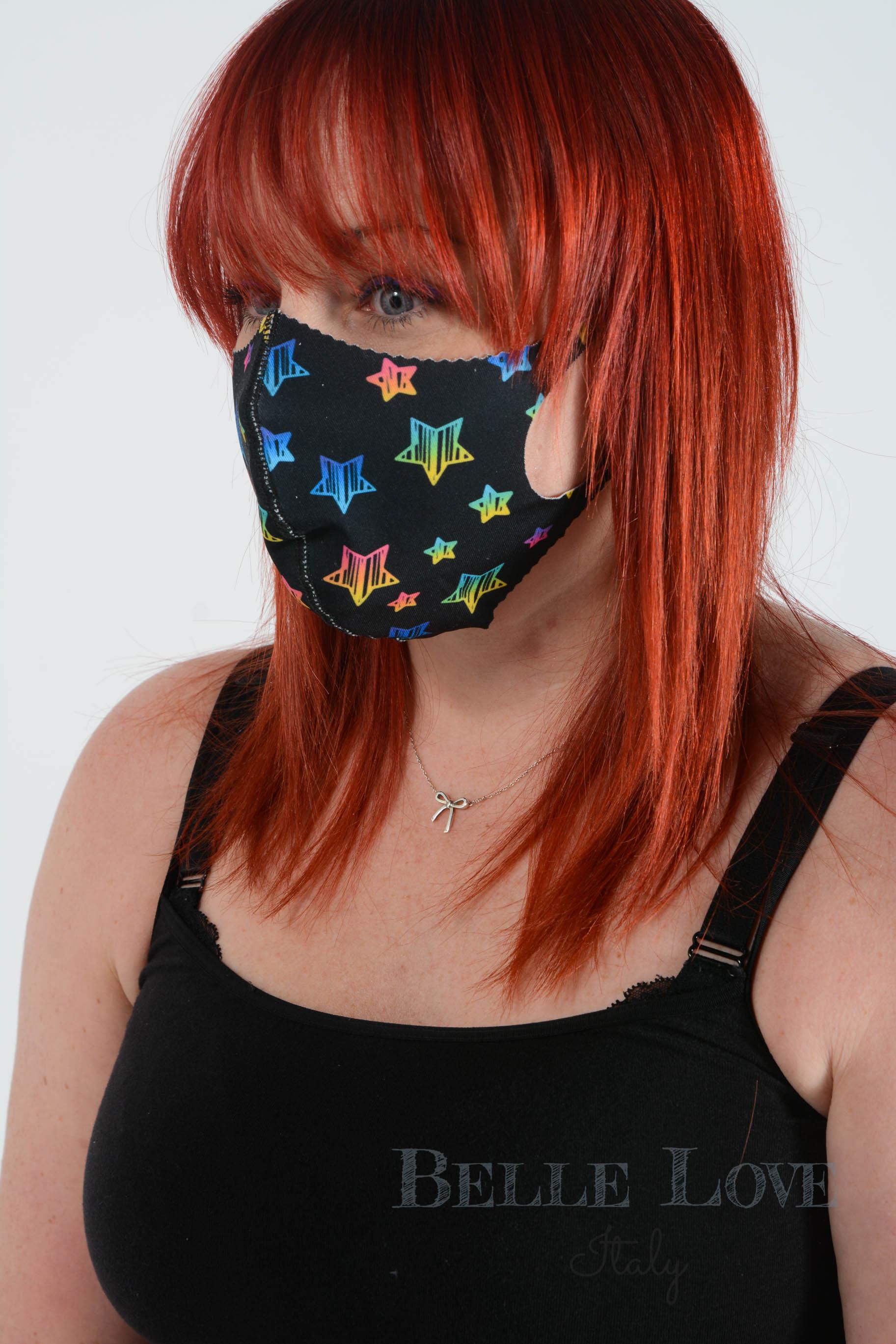Belle Love Italy Vibrant Star Face Mask