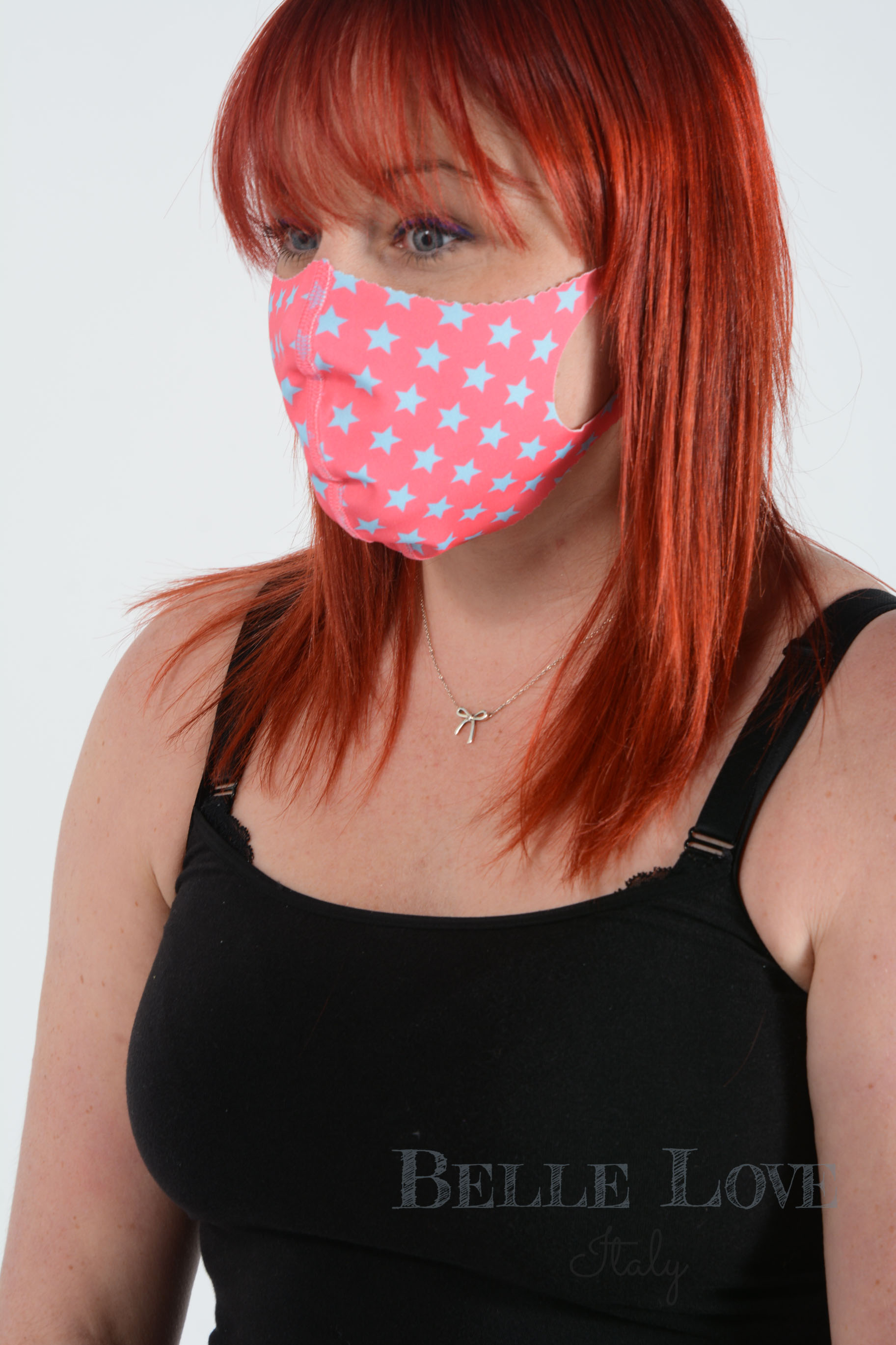 Belle Love Italy All Stars Pink Face Mask