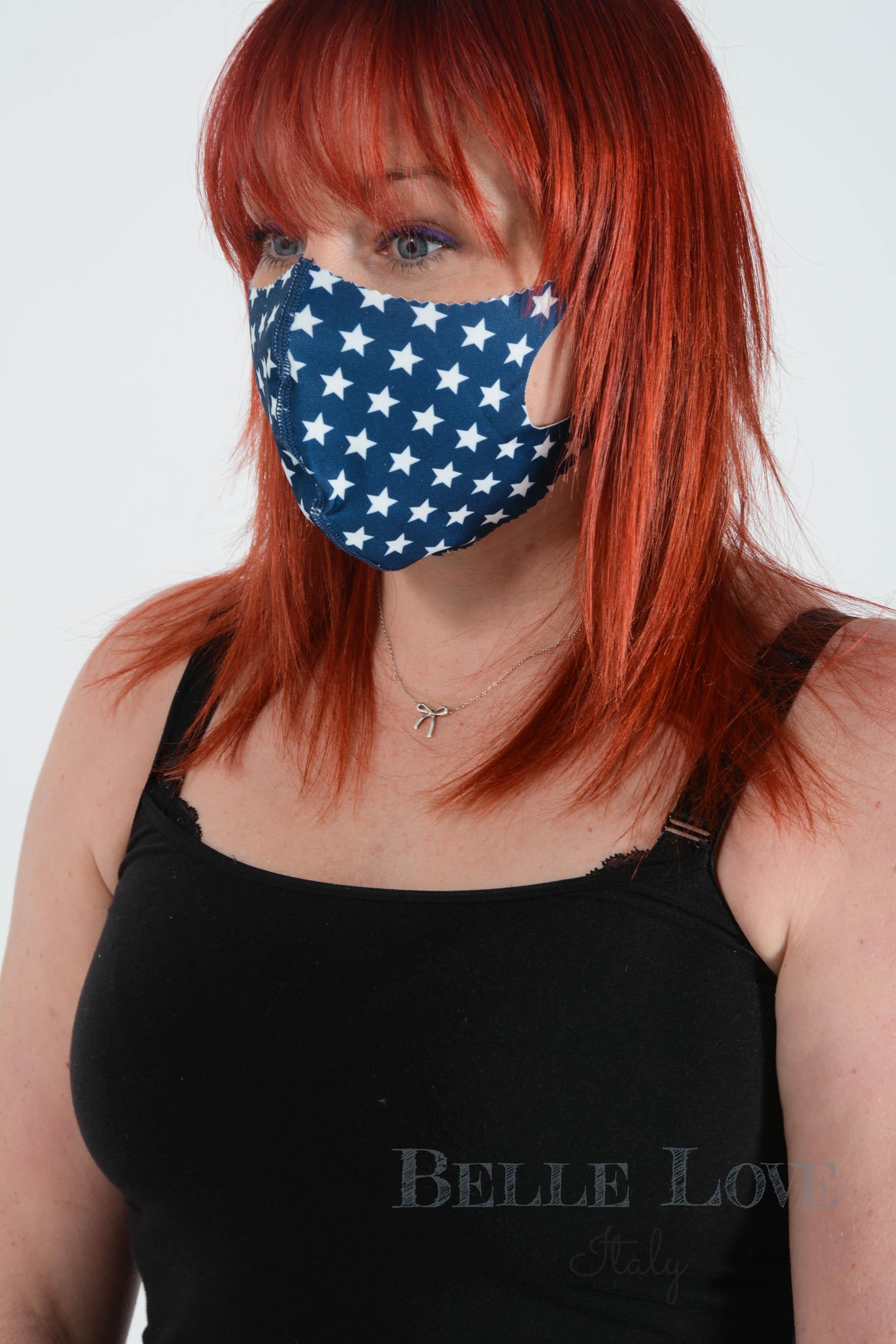 Belle Love Italy All Stars White Face Mask