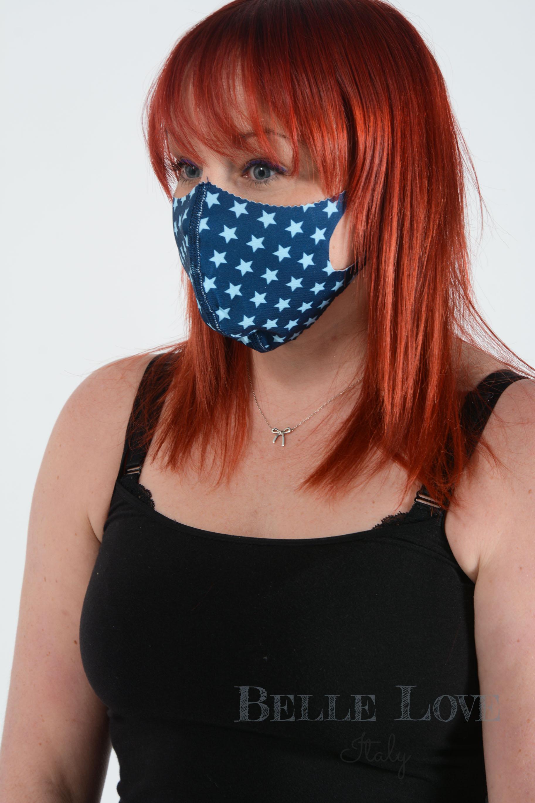 Belle Love Italy All Stars Blue Face Mask