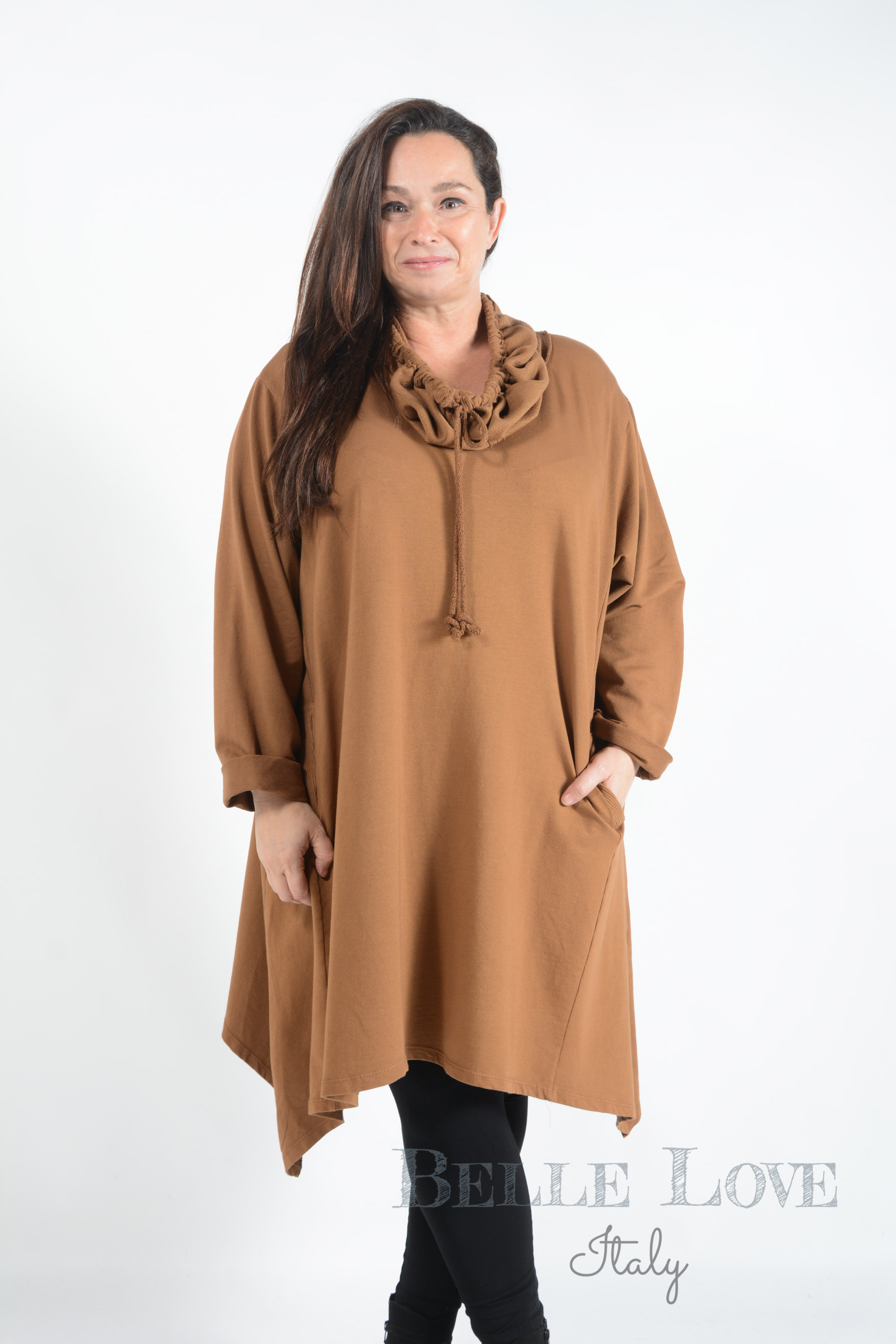 Belle Love Italy Shelby Ribbed Tunic