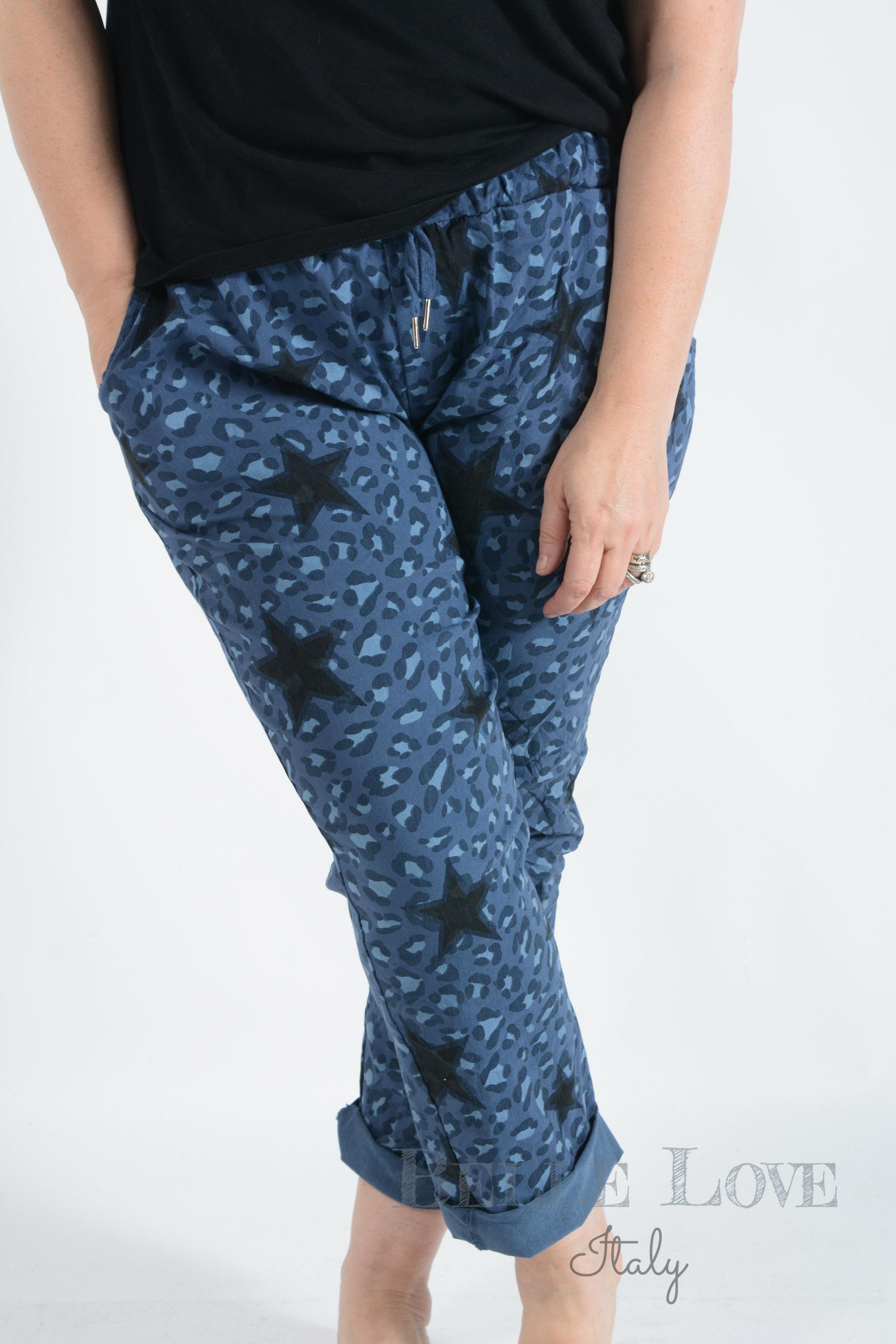 Belle Love Italy Maya Stars & Leopard Print Magic Pants