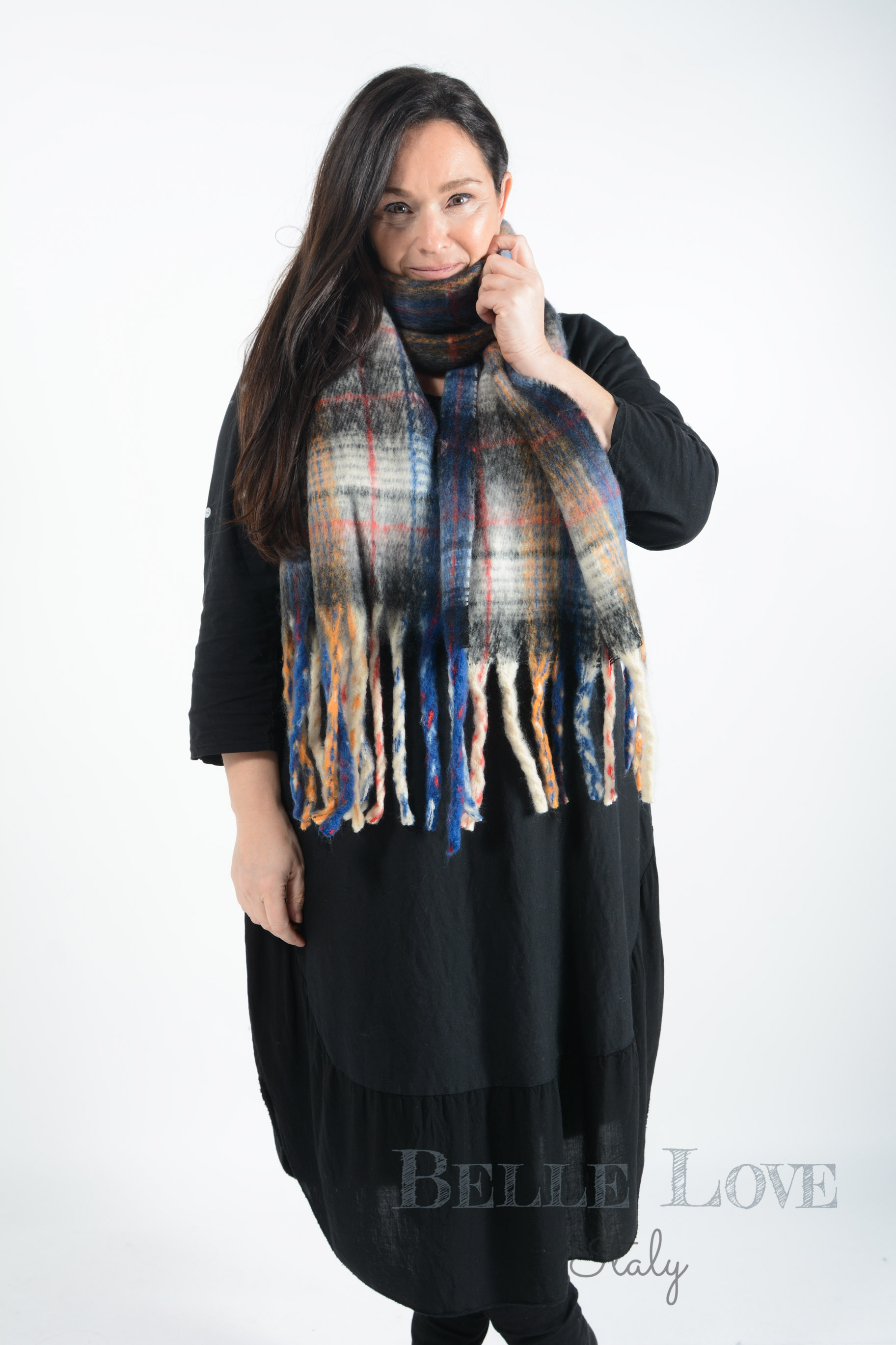 Belle Love Italy Phoenix Chunky Check Scarf