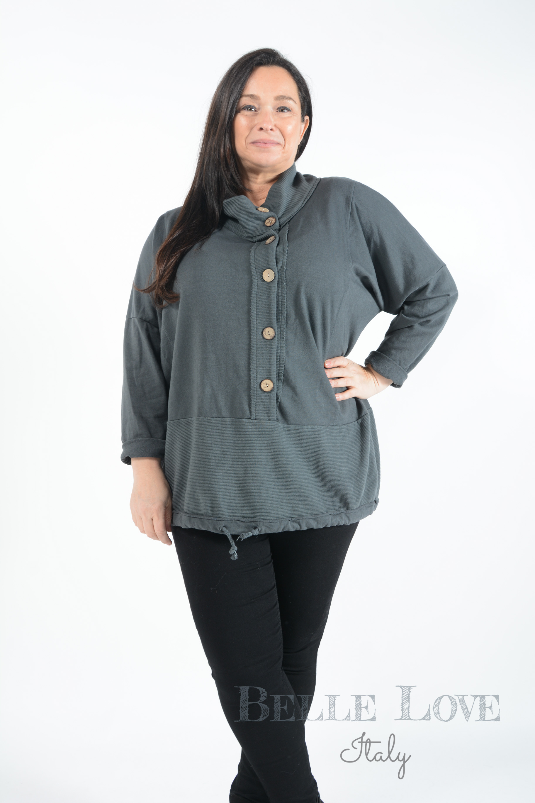 Belle Love Italy Josie Button Front Top