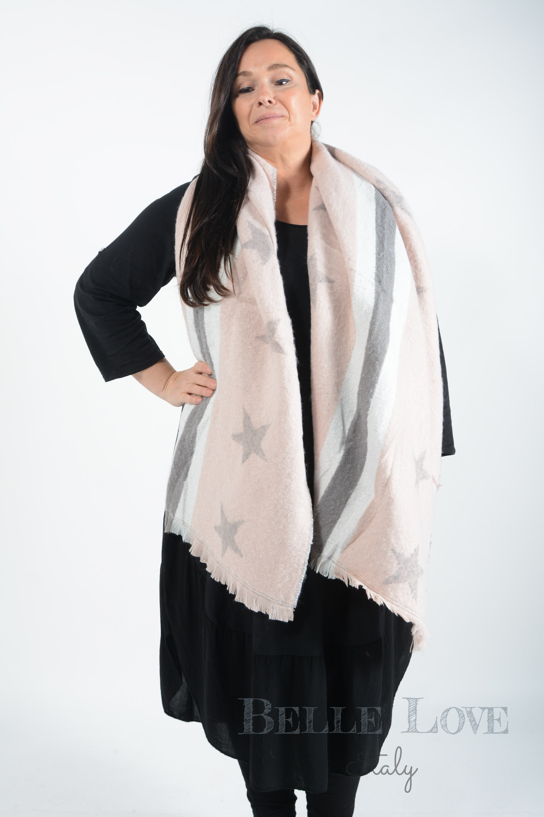 Belle Love Italy Aubrey Stars And Stripes Scarf