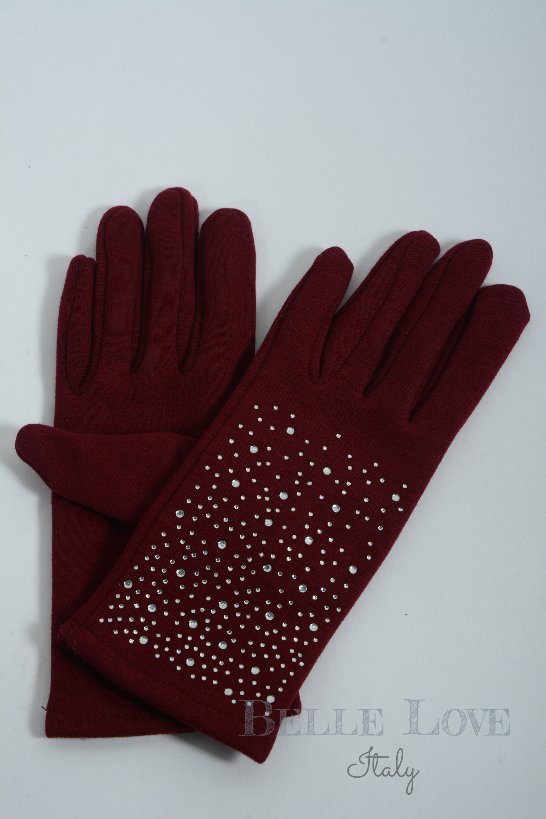 Belle Love Italy Lacey Diamante Gloves