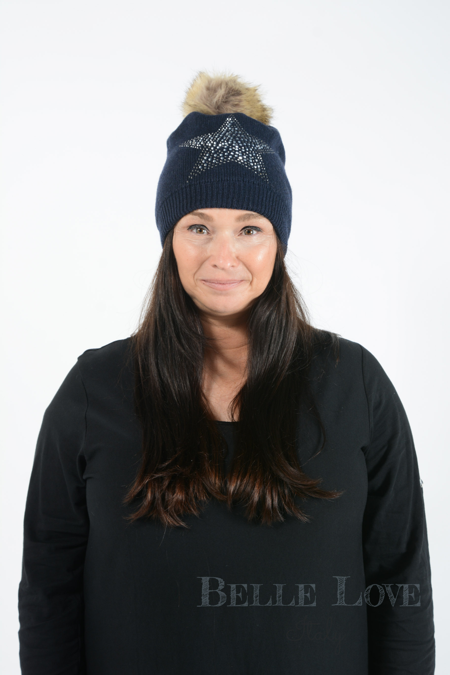 Belle Love Italy Zahra Star Pom Pom Hat