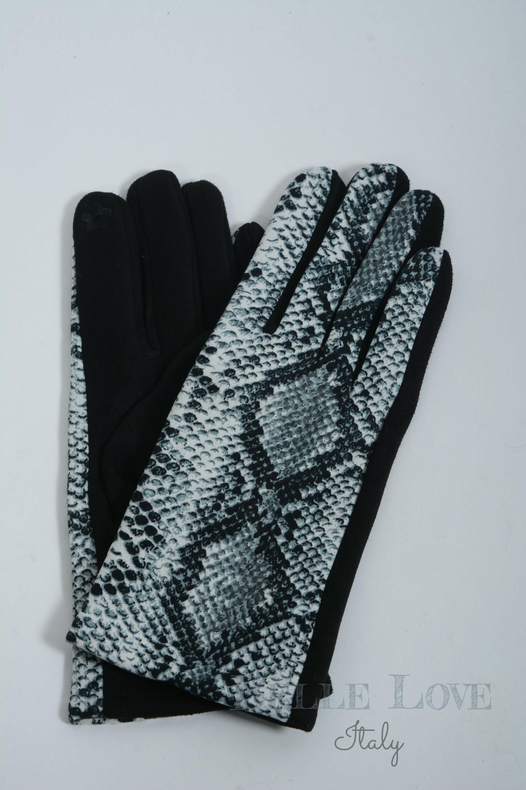 Belle Love Italy Ivana Snakeskin Gloves