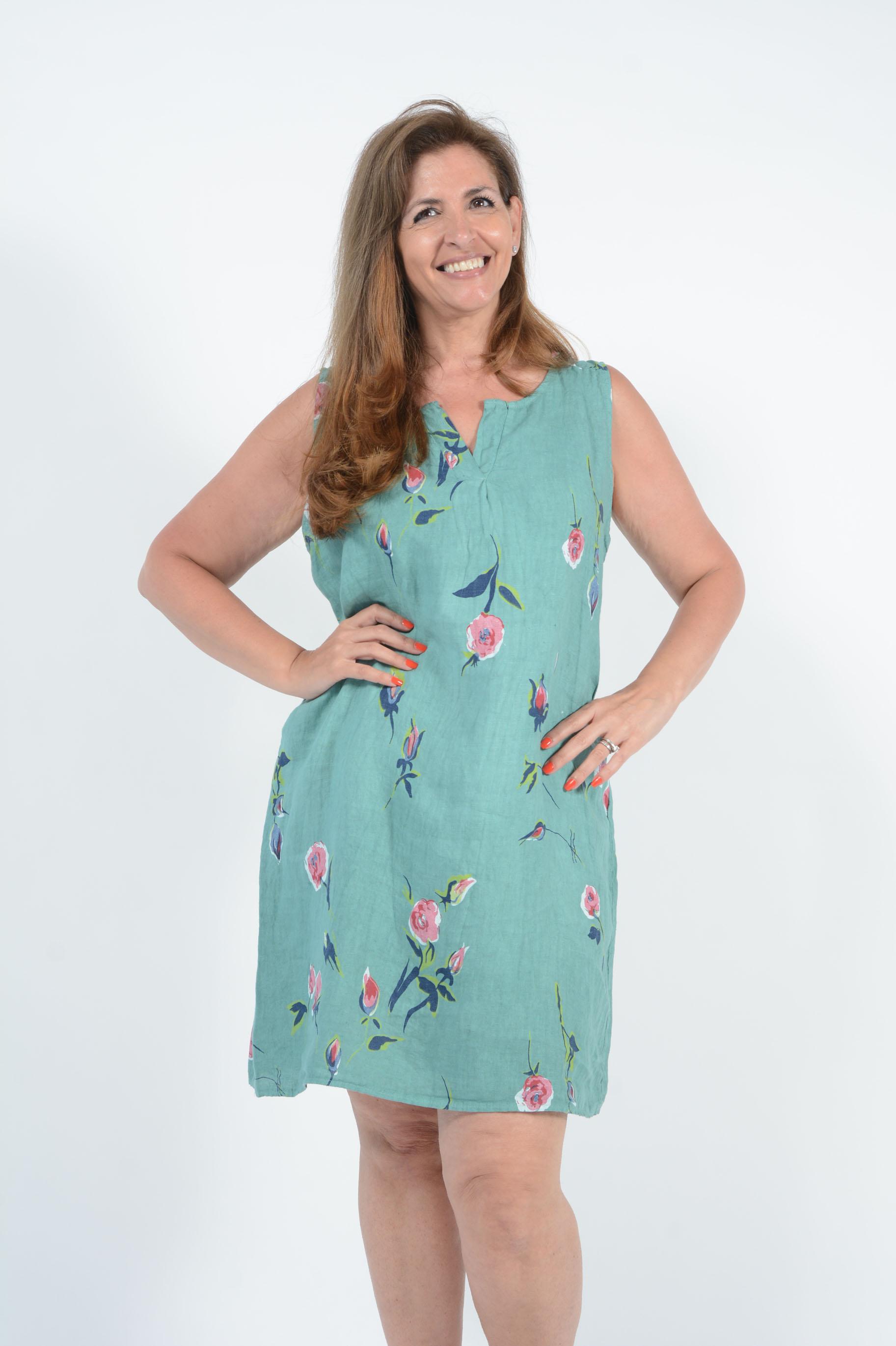 Belle Love Italy Nova Sleeveless Linen Dress