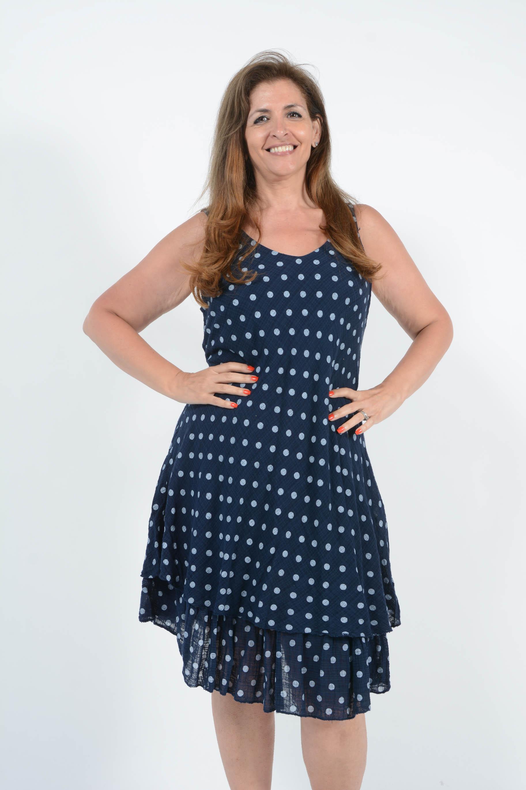 Belle Love Italy Sandy Polka Dot Dress