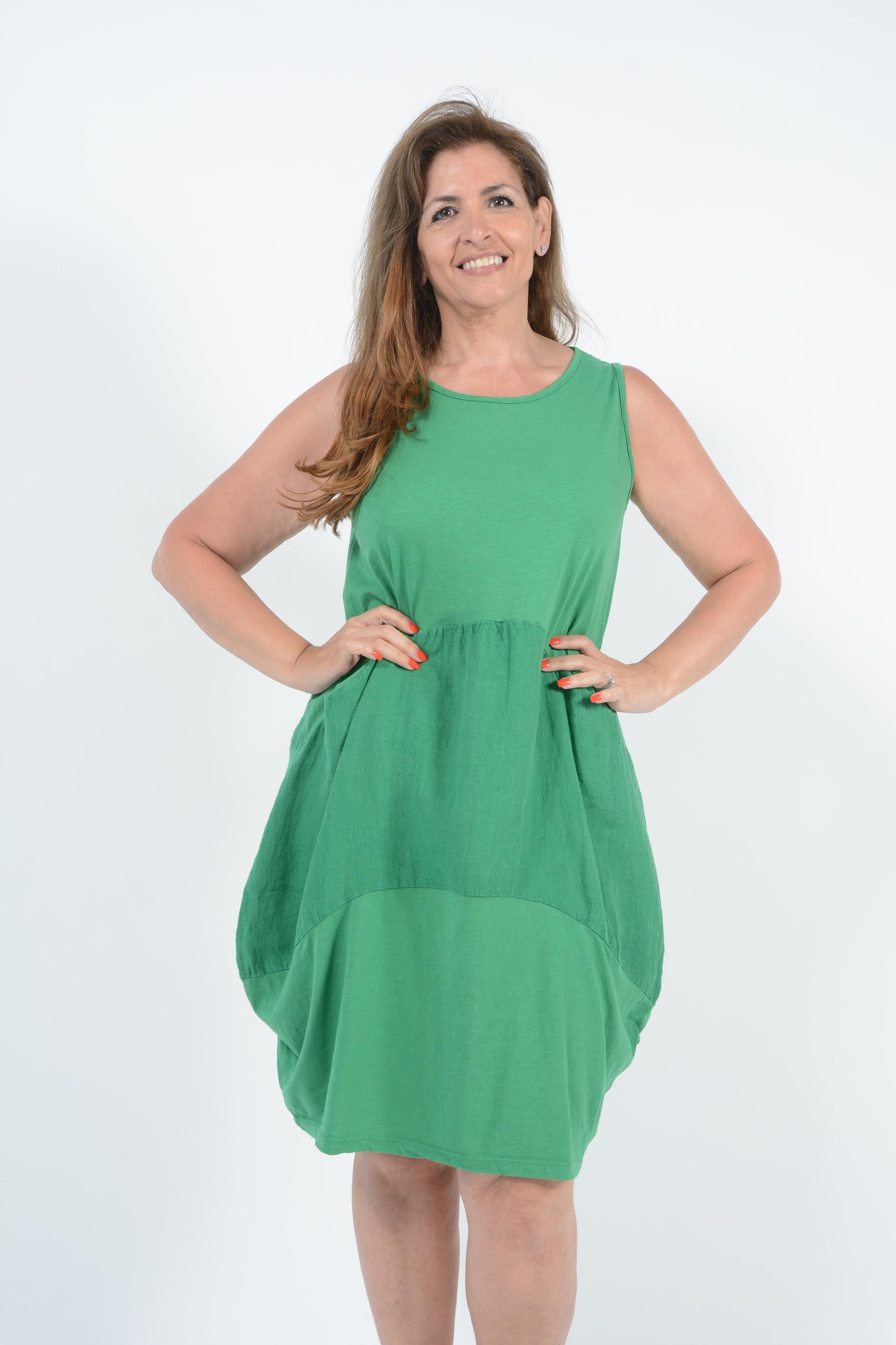 Belle Love Italy Hailey Cotton Panel Dress