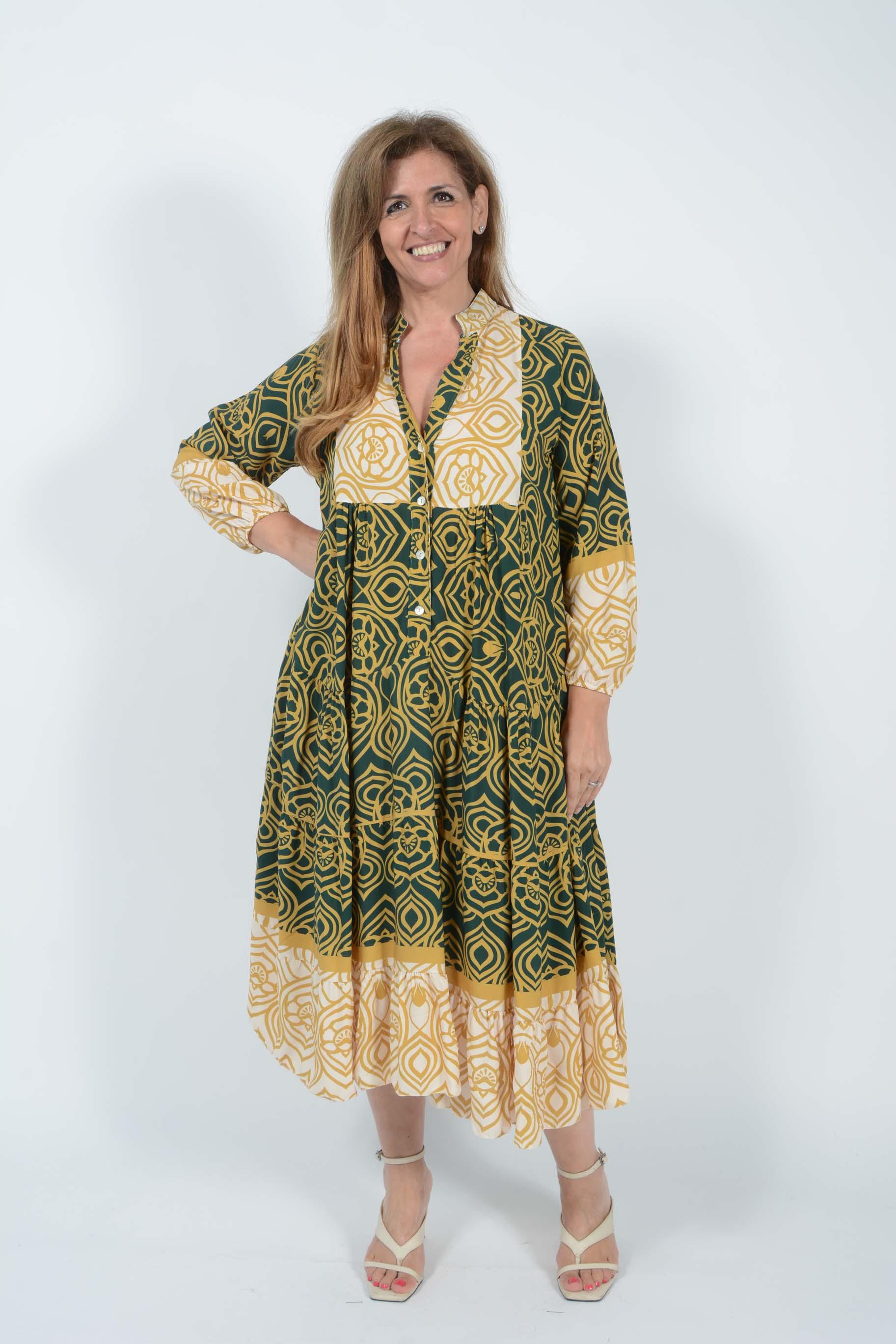 Belle Love Italy Aztec Dress