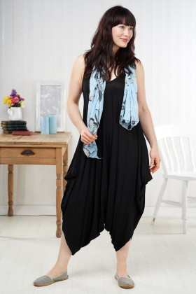 Made In Italy Harem Style Jumpsuit