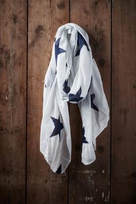 Belle Love Italy Big Star Print Silk Mix Scarves