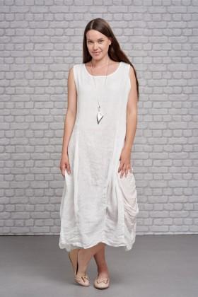 Belle Love Italy Ruffled Linen Dress