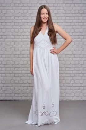 Belle Love Italy Halter Neck Diamond Maxi Dress