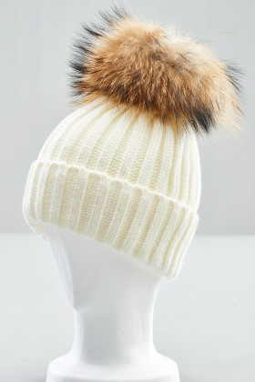 Belle Love XL Fur Pom Pom Hat