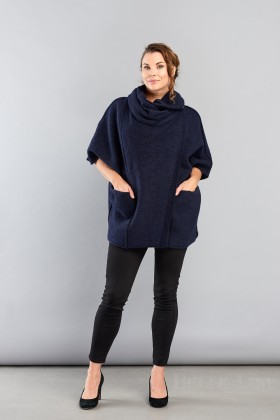 Belle Love Italy One Button Cowl Neck Coat