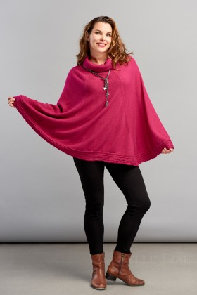 Belle Love Italy Cable Edge Poncho