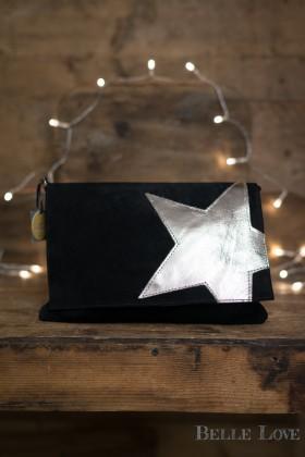 Belle Love Italy Suede Metallic Star Bag