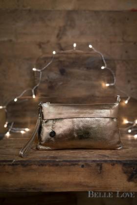 Belle Love Italy Metallic Clutch Bag