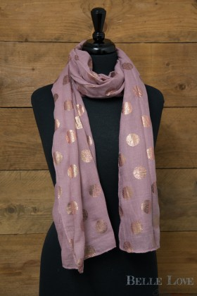 Belle Love Italy Rose Gold Dots Scarf