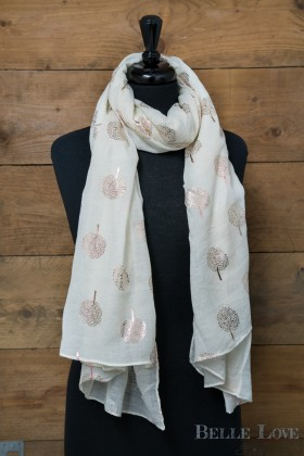 Belle Love Italy Foil Trees Scarf