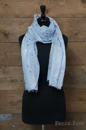 Belle Love Italy Rose Gold Splash Scarf