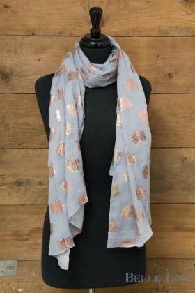 Belle Love Italy Rose Gold Oak Tree Scarf