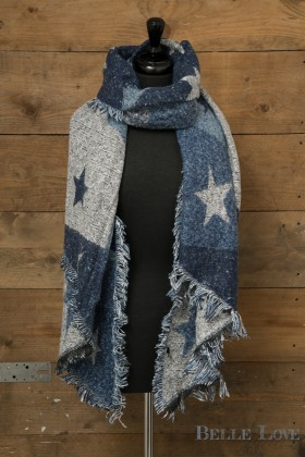 Belle Love Italy Reversible Chunky Star Scarf
