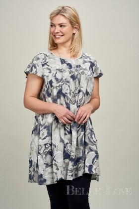 Belle Love Italy Flower print Linen Tunic