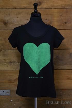 Belle love Italy Neon Heart Print T-Shirt