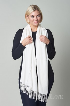 Belle Love Italy Cashmere Mix Tassle Scarf