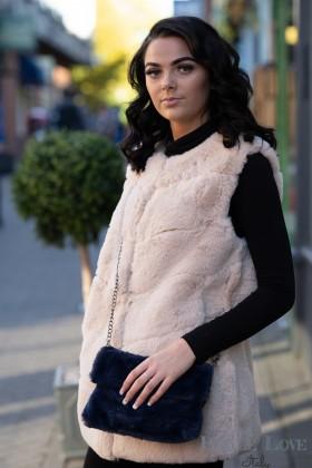 Belle Love Italy Teddy Bear Fur Bag