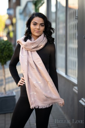 Belle Love Italy Foil Heart Scarf