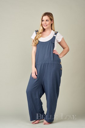 Belle Love Italy Lucca Linen Dungarees