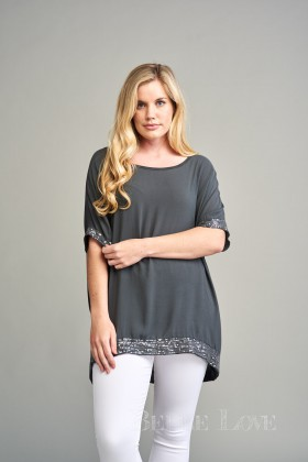Belle Love Italy Camilla Sequin Top