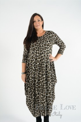 Belle Love Italy Phoebe Leopard Dress